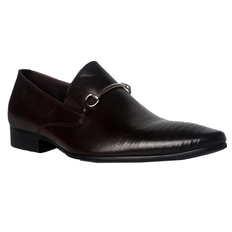 Texas Brown Leather Men Formal Shoe