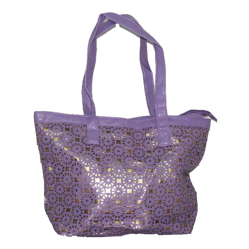 Rikes Places Purple/Gold Leather Ladies Handbag