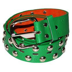 Green/Silver Fashion Leather Men's Spike Belt