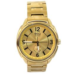 ESQ Gold Stainless Steel Round Face Men's Watch