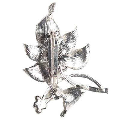 Juelz Silver Leave Shape Brooch wt Studs