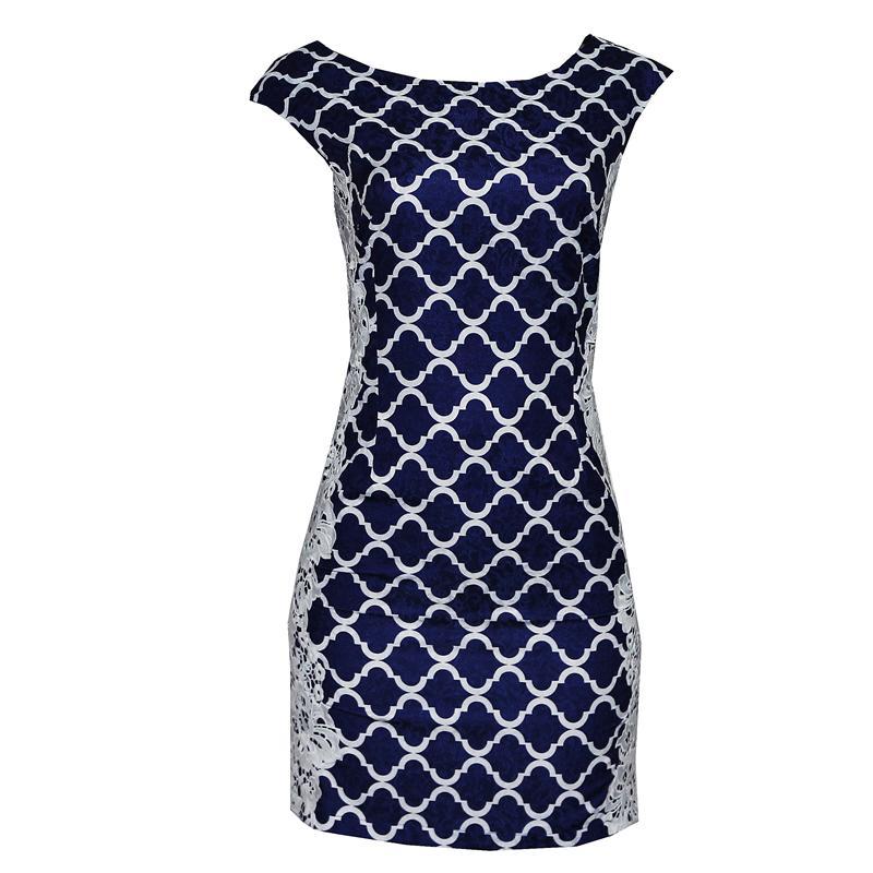 Defiant Blue/White Cotton  Dress