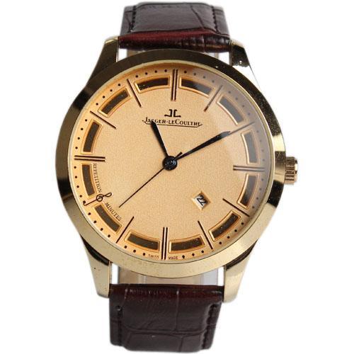 Jaeger-Lecoultre Wine Leather Men's Wristwatches