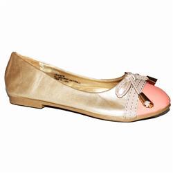 Little Angel Golden Brown/Peach Leather Kids Shoe