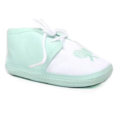 Green/White Baby Shoe Wt HandBat Design