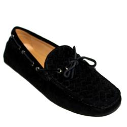 Bottega Veneta Black Suede Men's Loafer wt Tassel Lace
