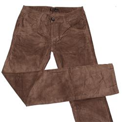 Zuiki Brown Cotton Ladies Straight Cut Corduroy Trouser