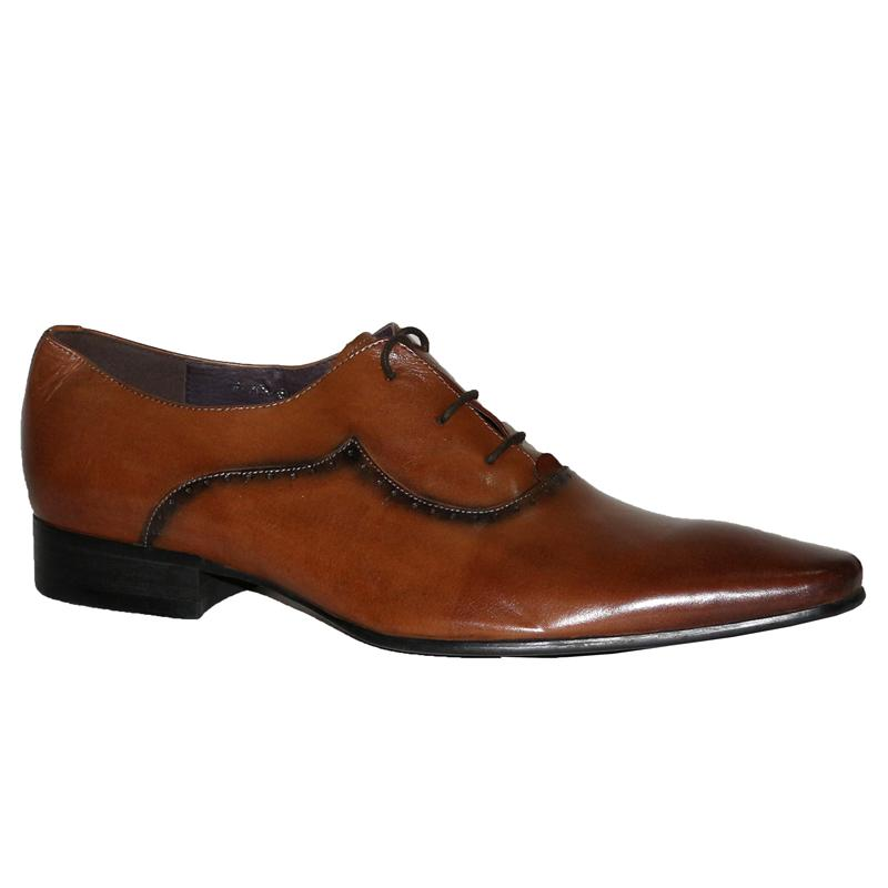 Texas Brown Leather Lace Men's Formal Shoe
