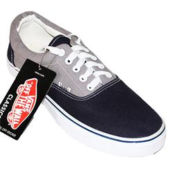 Vans Gray/Navy Fabric ladies Sneakers