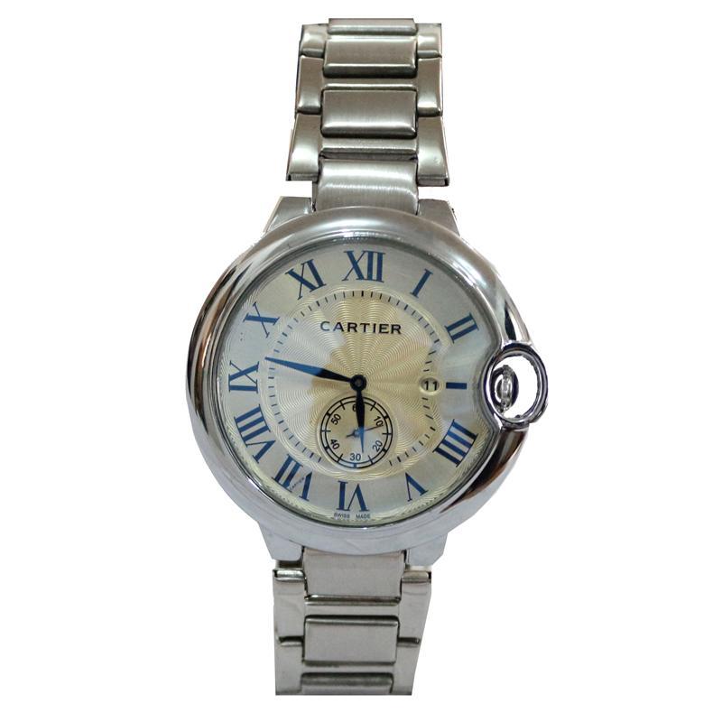 Cartier Silver Stainless Steel Men's Watch