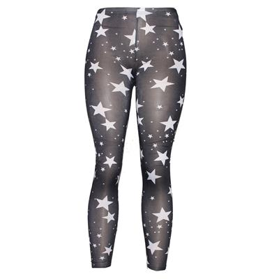 Pingfa Black/White Star Design Ladies Leggings