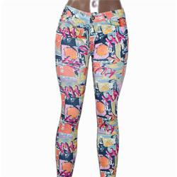 Usy Pink/Black Print Pattern Ladies Jeggings