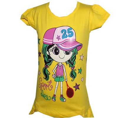 Sukki Yellow Girls Top with Princess Design