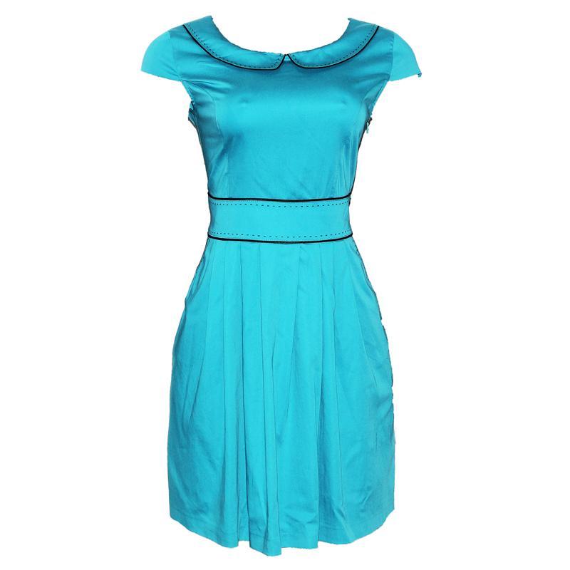 Lady Morgana Turquoise Cotton  Dress