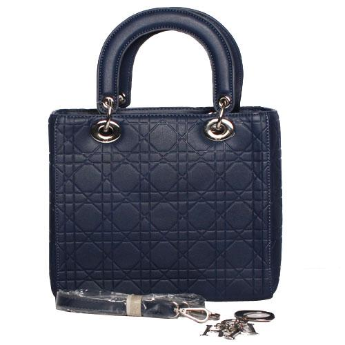 Christian Dior Navy Leather Ladies Tote Bag