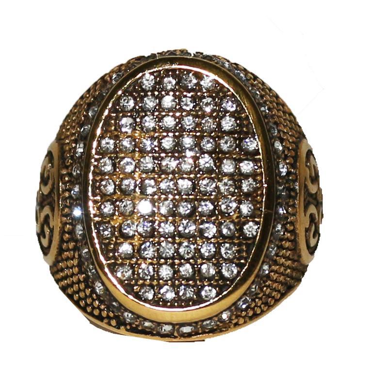Gold Studded Bishop Ring