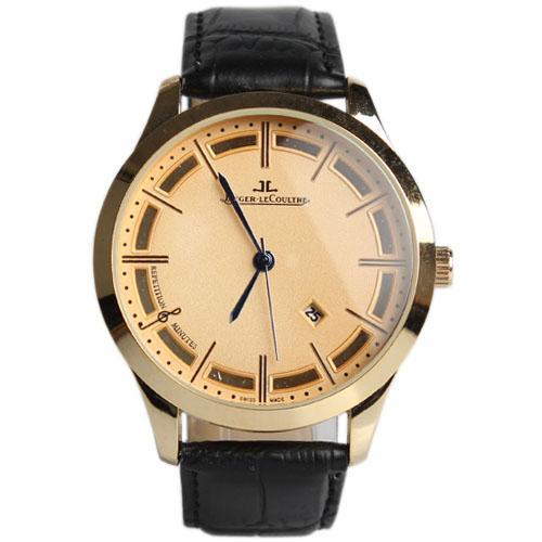 Jaeger-Lecoultre Black Leather Men's Wristwatches