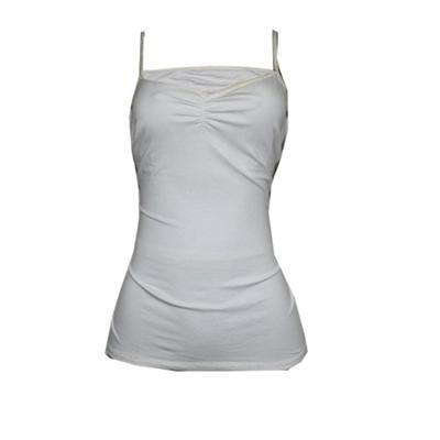 BHS White Ladies Plain Camisole Top wt Soft Comfort Elastic