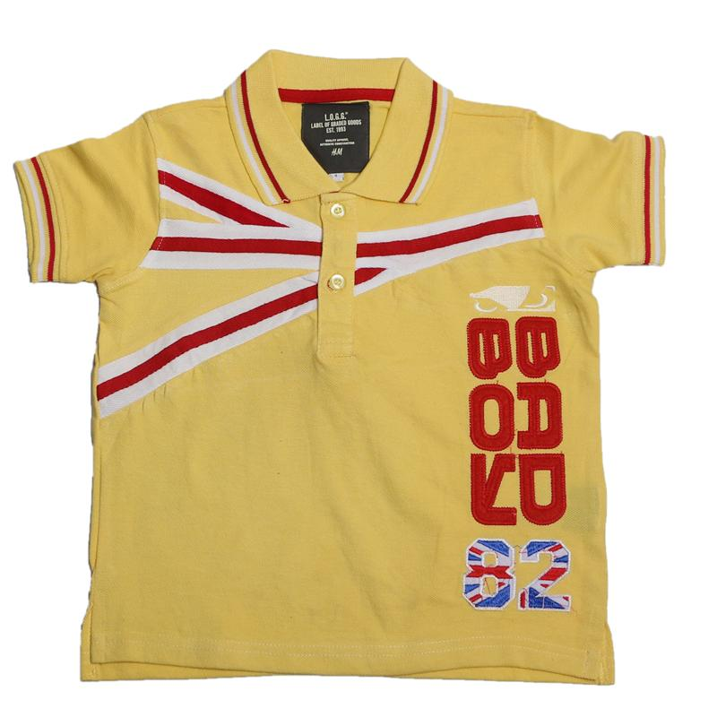 H&M Yellow/Red Boys Polo