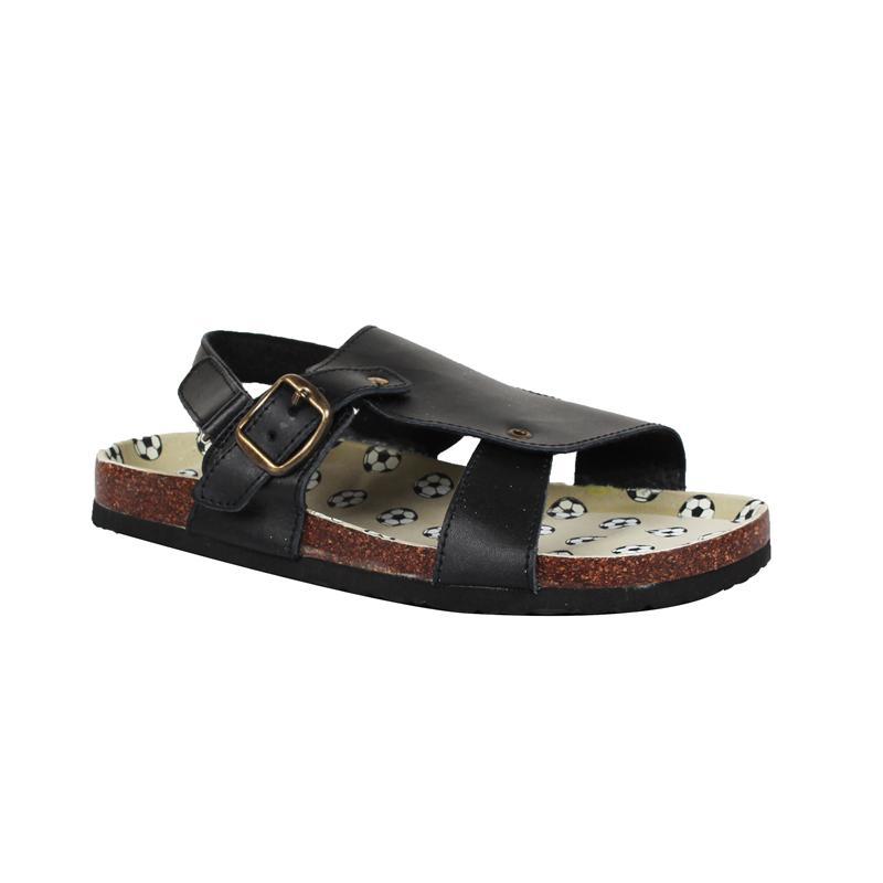 K Shoes Black Leather Boys Sandal
