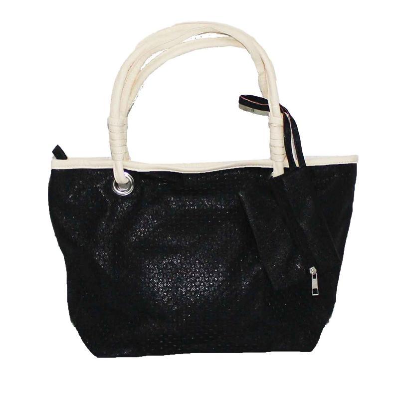 Rikes Places Black/Cream Leather Ladies Handbag