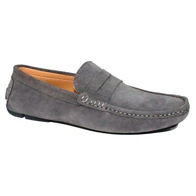 Bally Grey Suede Men's Loafers