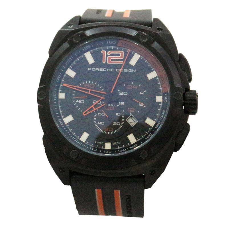 Porsche Design P'6630 Black Rubber Strap Men's Watch