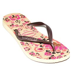 Havaianas Cream/Pink Rubber Ladies Beach Slippers