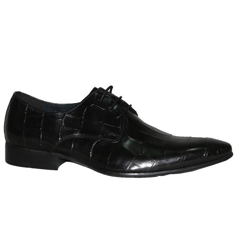 Giorgio Armani Black Croc Leather Lace Men's Formal Shoe