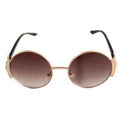 Bronze/Black Round Face Men's Sunglass