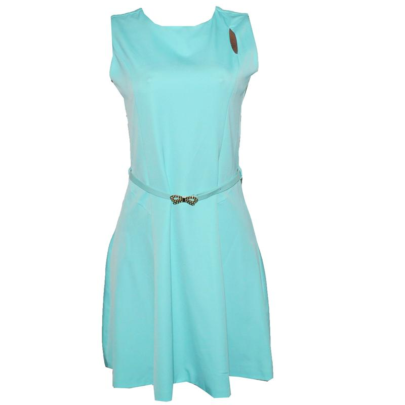 OBJ Collection Turquoise Armless  Skater Dress