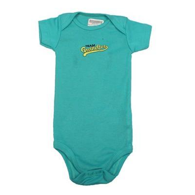 Turquoise Baby Romper Wt Yellow Design Infant