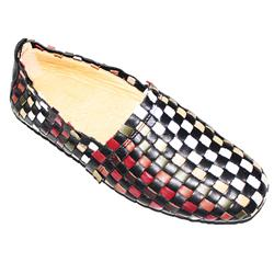 Temadou Black Multicolor Inter Woven Leather Casual Shoe