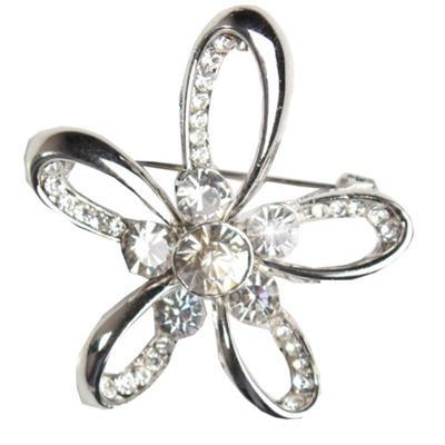 Juelz Silver Brooch wt Star Shape & Silver Studs