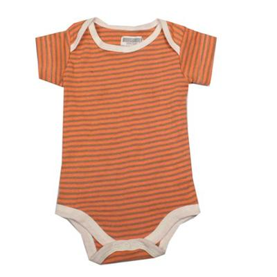 Orange/Green Stripe Baby Romper sz Infant
