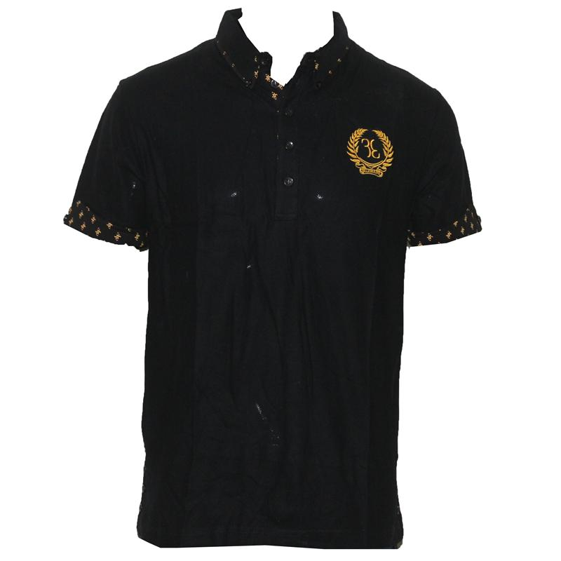 Billionaire Black Italian Cotton Men's Polo