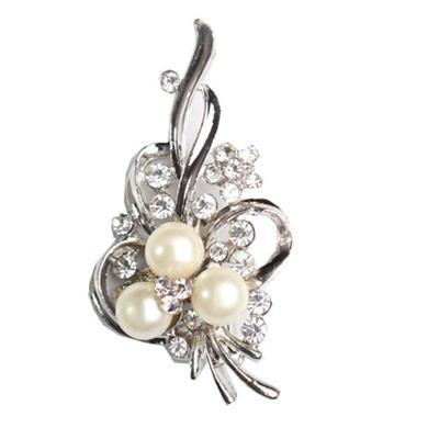 Juelz Silver Brooch wt Silver Studs & Beads