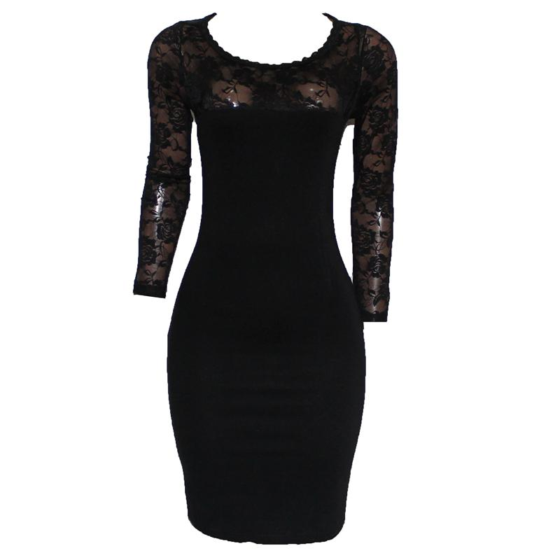 Nice Forever Black Floral Netty Ladies Dress
