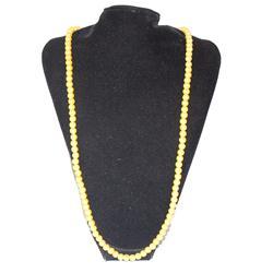 Yellow Ladies Fashionable Neck Bead