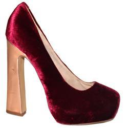 Faith Wine Suede High Heel Shoe