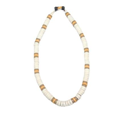 White/Yellow/Army Green Beads Men's Necklace