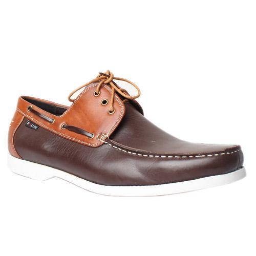 Bolun Coffee Brown Leather Casual Shoe