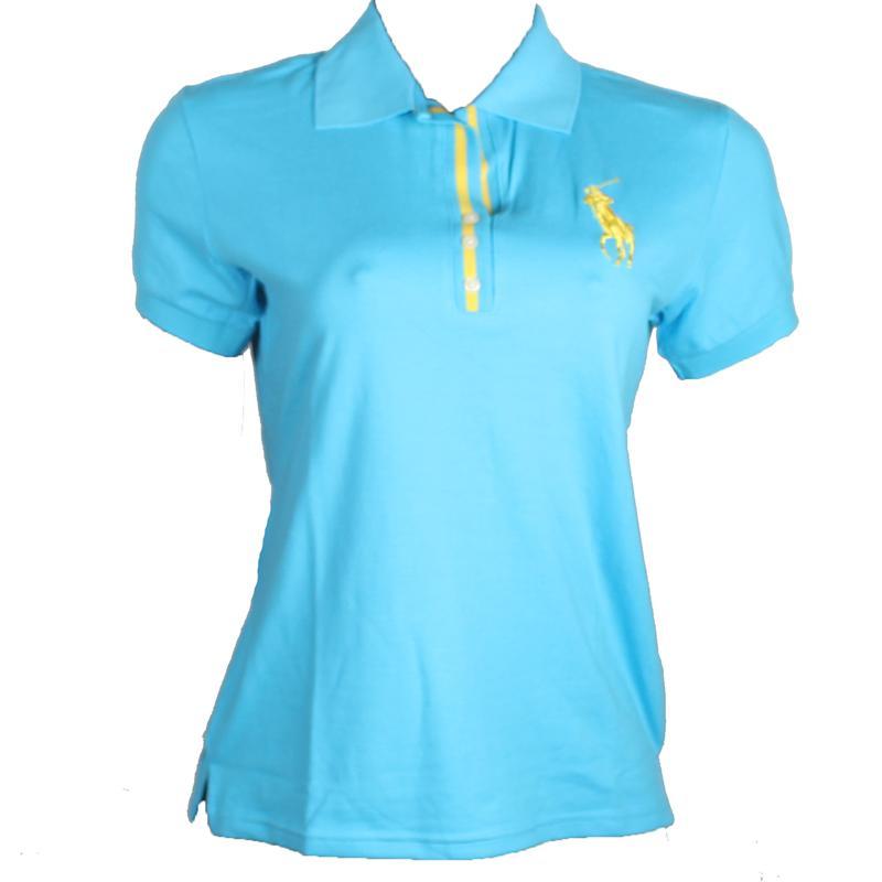 Ralph Lauren Turquoise Ladies Polo wt Big Yellow Pony