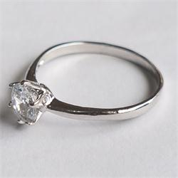 Silver Engagement Ladies Ring Wt  Stone