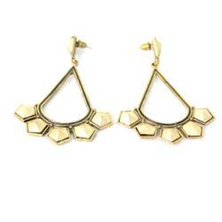 Fashion Bronze Oval/Starhape Drop Ladies Costume Earring