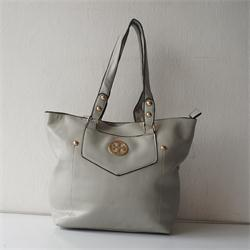 Gray Fading Leather Ladies M Bag