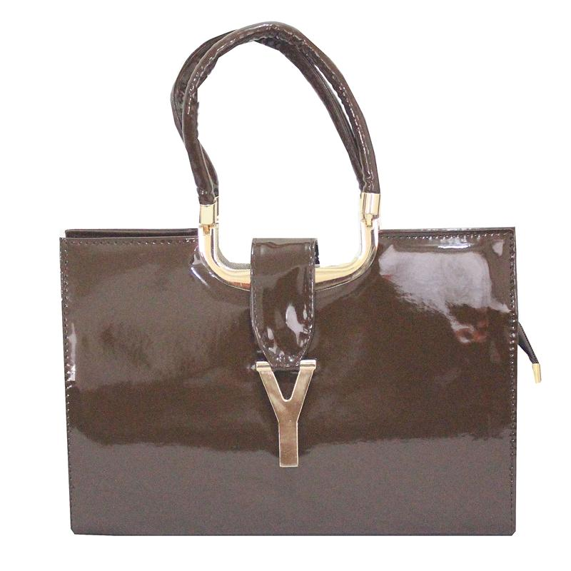 Rikes Places Coffee Leather Ladies Tote Bag