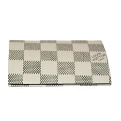 Louis Vuitton White/Black Check Pattern Leather Card Holder