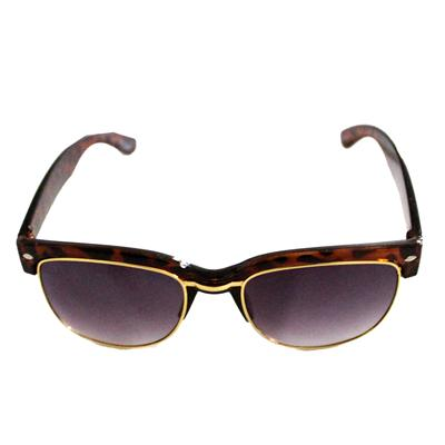 Brown Animal Skin Men's Sunglass