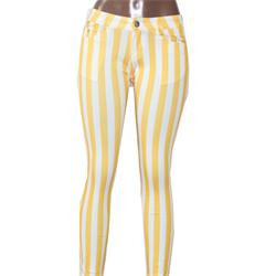 Usy Yellow/White Stripe Ladies Jeggings